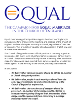 Equal parish flyer - the campaign